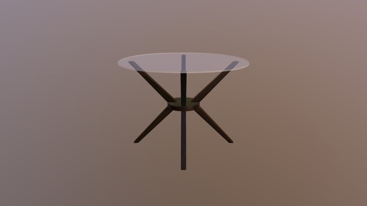 Living Room Table 2 3D Model