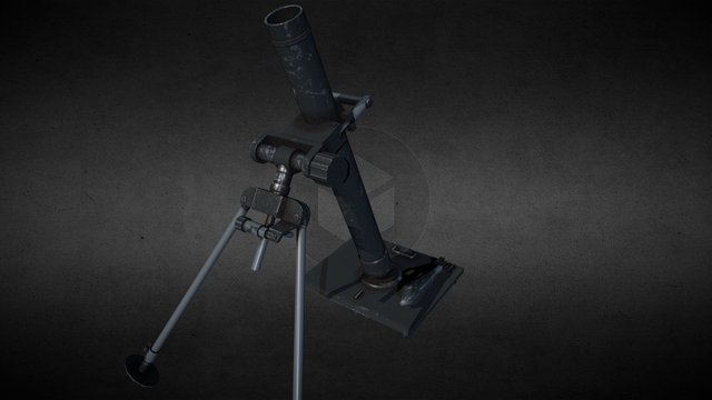 Mortar GrW 38 81mm 3D Model
