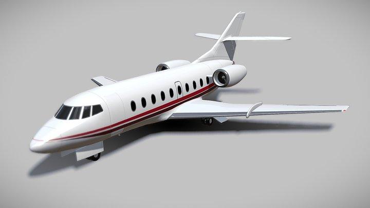 Dassault Falcon 30 private jet 3D Model