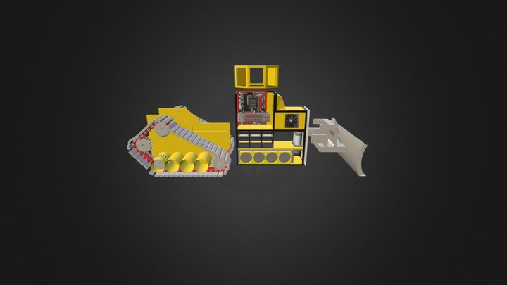 Bulldozer case / open 3D Model