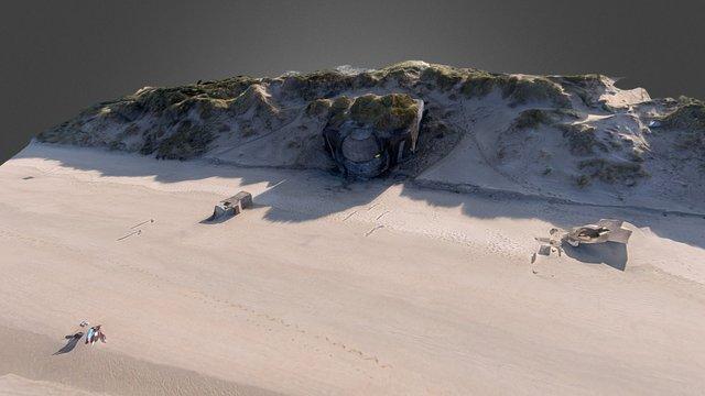 Bunker de la Dune Dewulf, Dunkerque (59) 3D Model
