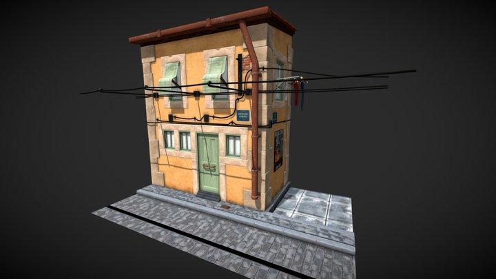 Lisbon House Stylised 3D Model