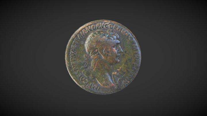 Sesterce de Trajan 3D Model