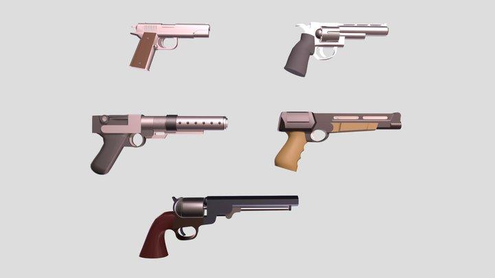 handguns 3D Model