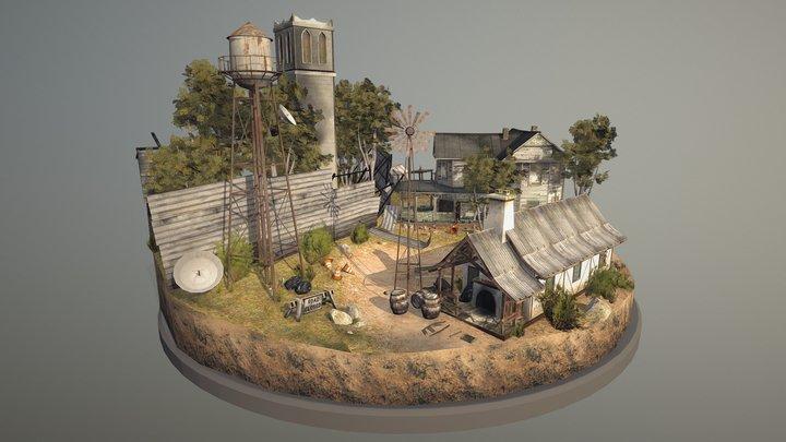 'The Walking Dead' Inspired Cityscene 3D Model