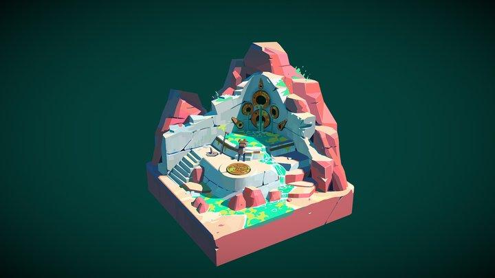 Desert Diorama 3D Model