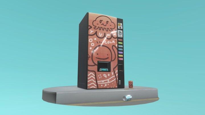 Yumm Cola - Vending Machine 3D Model