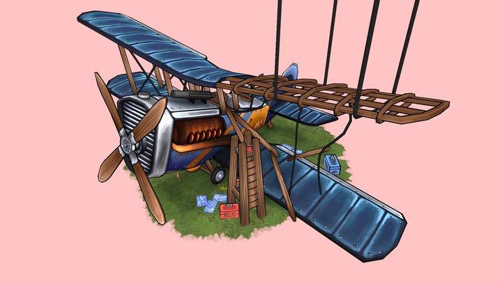 Stylized WW1 Plane - AIRCO DH.4 3D Model