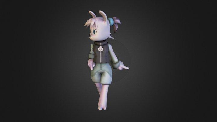 Rabbit Girl 3D Model