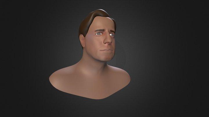 John Travolta Likeness bust 3D Model