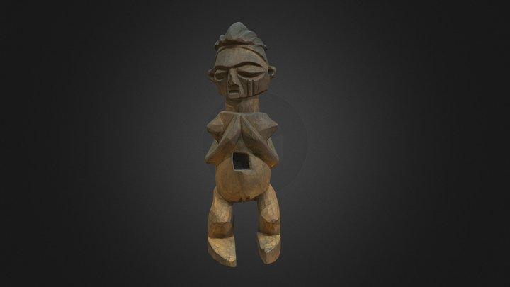 Nkisi-noganga (woman) - DR Congo 3D Model