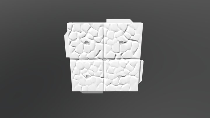 Terra-Play Adventure Tiles - Cobblestone Tile A 3D Model