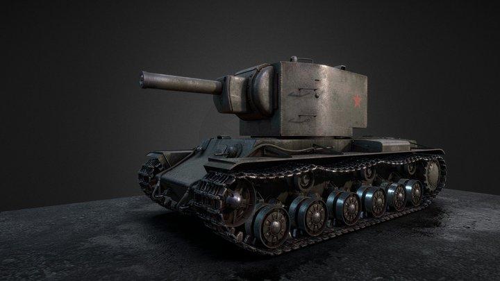 KV-2 heavy tank 1940 3D Model