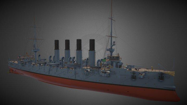 Soviet Cruiser Varyag 3D Model