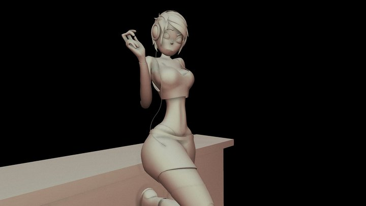 Kinky Character - Render Project 3D Model