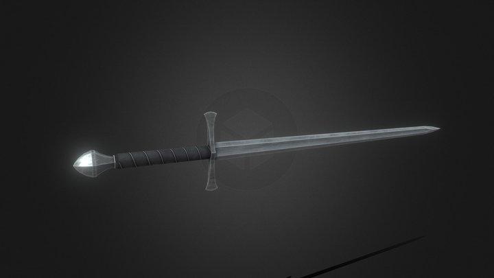Steel Longsword 3D Model