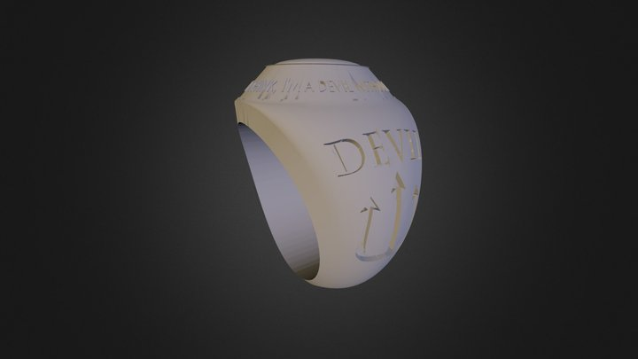 Football Ring- Avigail Turner 3D Model