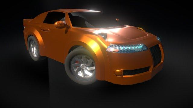 Orange Car 3D Model