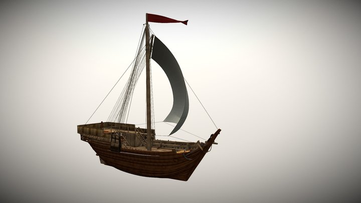 Bremen Cog 1380 -2017 Reconstruction 3D Model