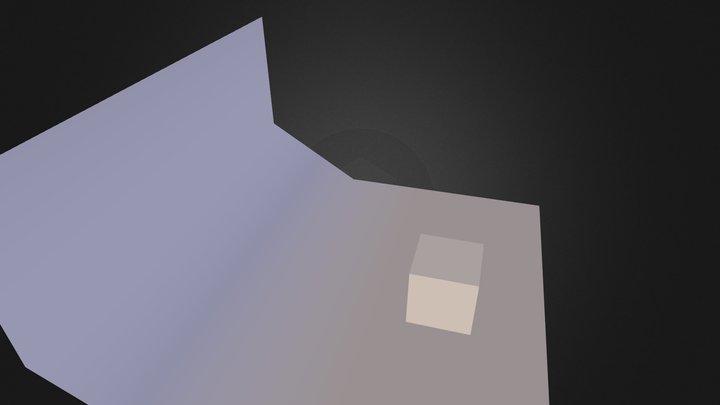 Cube Scene V001 3D Model