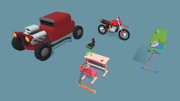 10 Drafts 3D Model