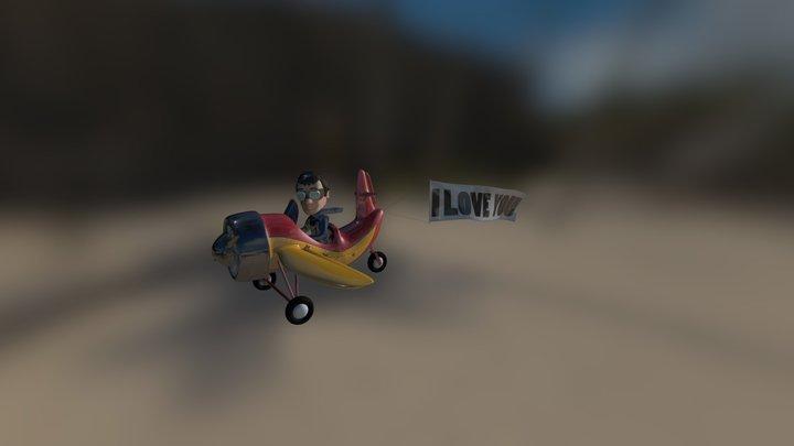 Valentines-day-pilot 3D Model