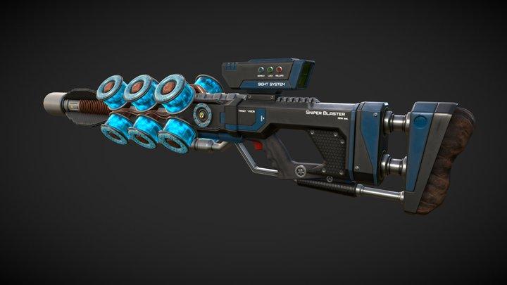 Sniper Blaster PBR 3D Model