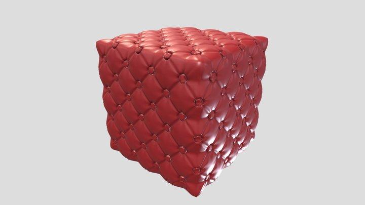 Comfort Default Cube - Cozy Pillow 3D Model
