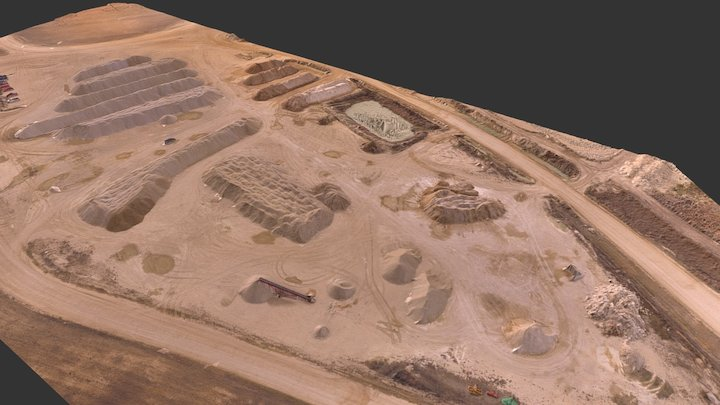 Stockpile Inventory by Drone 3D Model