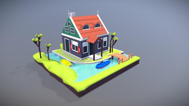 Dutch Cottage 3D Model