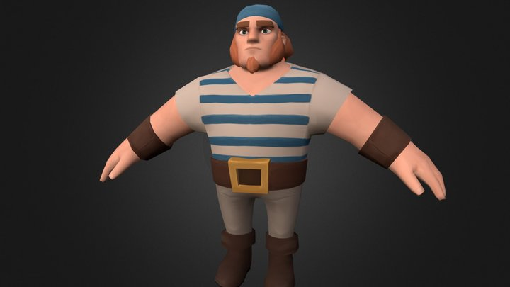 Male Pirate 3D Model
