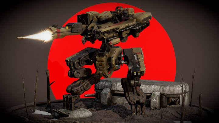 Combat Mech 3D Model