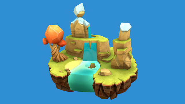 Smokitten_Island_02 3D Model