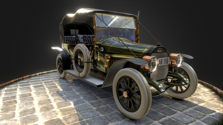 Gräf & Stift Doppel Phaeton 3D Model