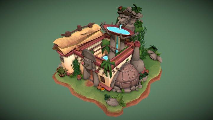 Mayan Sauna Center 3D Model