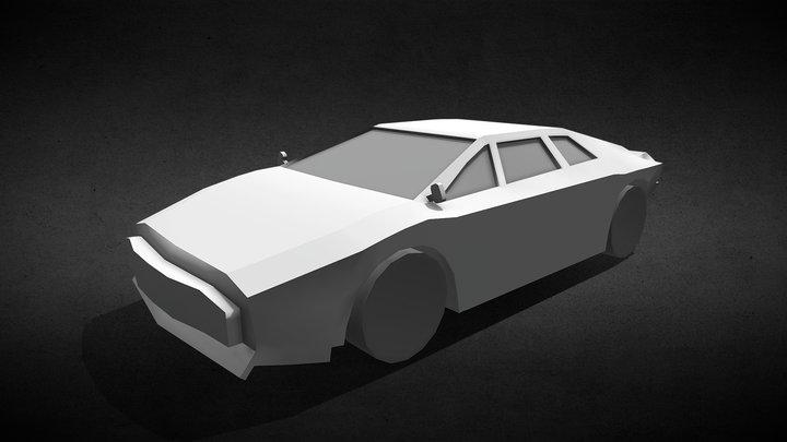 Lotus Esprit Low Poly - Untextured 3D Model