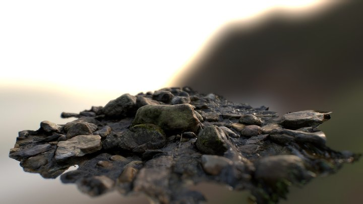 Stones in the stream 3D Model