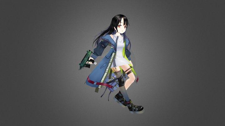 C-MS (girls frontline) 3D Model