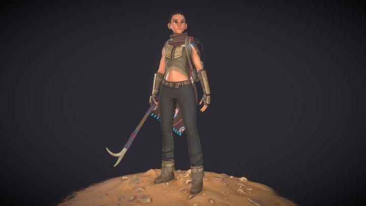 Native American Rebel - Wild West challenge 3D Model