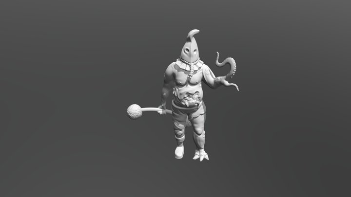 Plague Circus Strongman 3D Model