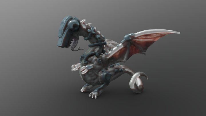 Cybernetic Dragon 3D Model