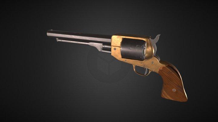 Antique Revolver 3D Model
