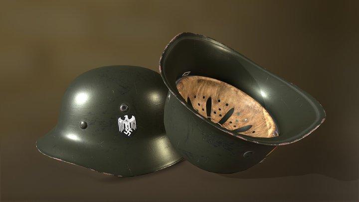 WWII M35 German Helmet 3D Model