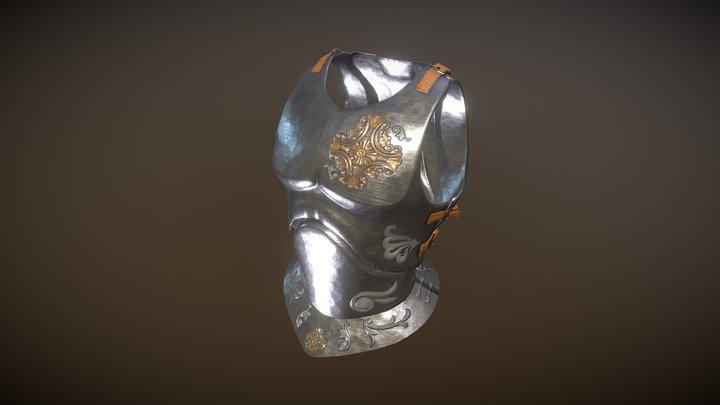 Breastplate - metal 3D Model