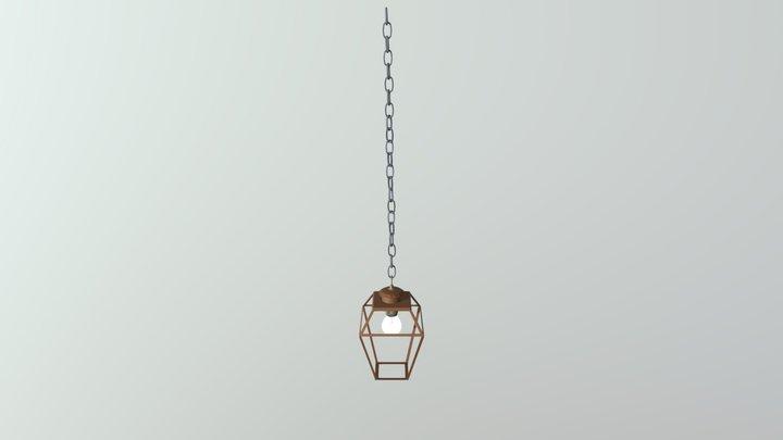 Hanging Lantern Frame Light 3D Model