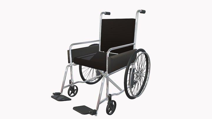 Кресло-коляска с ручным приводом 3D Model
