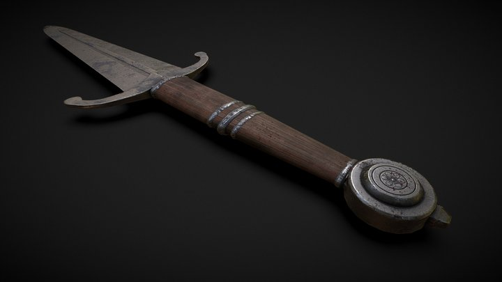 Steel Dagger 3D Model