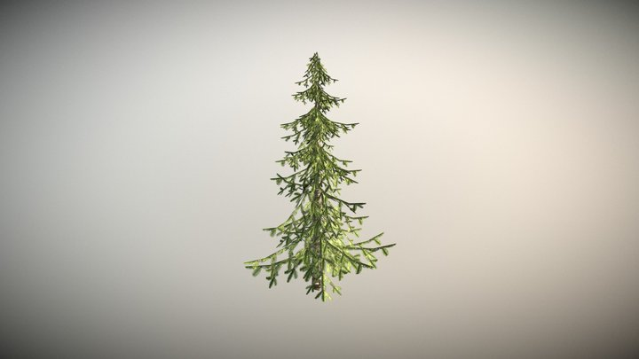 low poly Christmas tree 3D Model