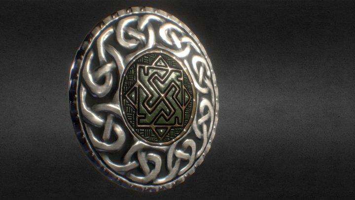 Viking/Celtic Iron Shield 3D Model