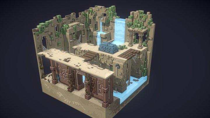 Lost temple 3D Model